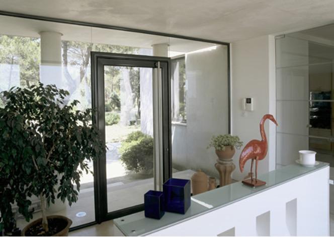 portes d'entrées en aluminium